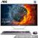 AOC AIO 72.28インチ超薄型IPSスクリーン一体型のデュアル・スコープ・ディップ・スコップ・ディップ・スコップ・パンチ(i 5-7400 G 2400 G固体WiFi Bluetooth 3年訪問無線キー・マウス)